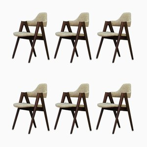 Vintage Danish Compass Dining Chairs by Kai Kristiansen, 1960s, Set of 6