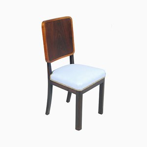 Art Deco Italian Light Blue Side Chair by Paolo Buffa for La Permanente Mobili Cantù, 1930s