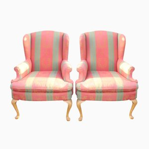 Wingback Armchairs, 1960s, Set of 2