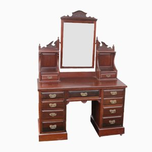 Large Walnut Dressing Table, 1920s