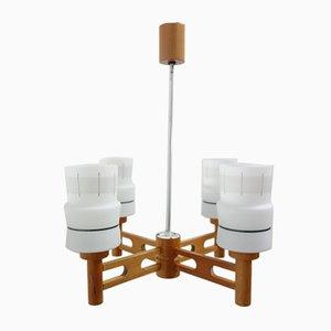 Lampe à Suspension de Drevopodnik Holesov, 1960s