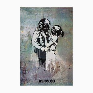 Poster promozionale del film Blur Think Tank di Banksy, 2003