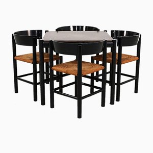 Table et Chaises de Salle à Manger par Mogens Lassen pour Fritz Hansen, 1964, Set de 5