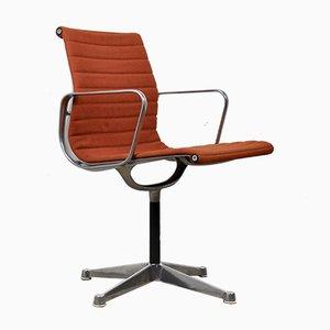 Orangefarbener Mid-Century Schreibtischstuhl von Charles & Ray Eames für Herman Miller, 1960er