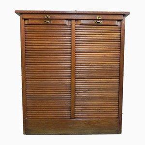 Oak Shutter Cabinet, 1930s