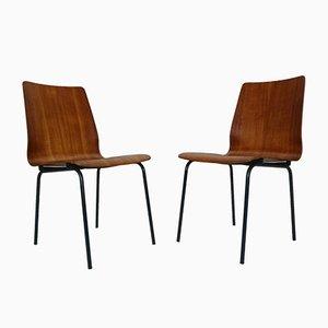 Modell Euroika Esszimmerstühle aus Teak von Friso Kramer für Auping, 1950er, 4er Set