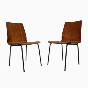 Teak Model Euroika Dining Chairs by Friso Kramer for Auping, 1950s, Set of 4