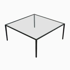 Mid-Century Italian Metal and Glass Coffee Table by Campo e Graffi for Home Torino