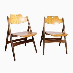 German Folding Chairs by Egon Eiermann, 1950s, Set of 2