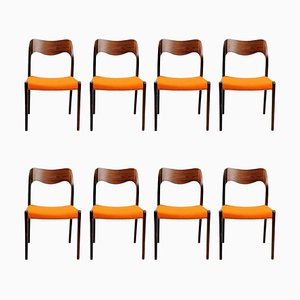 Rosewood Dining Chairs by Niels Otto Møller, 1960s, Set of 8