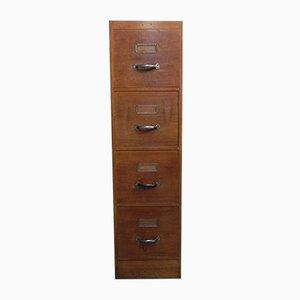Oak Filing Cabinet, 1950s