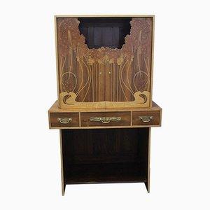 Vintage Art Nouveau Style Rosewood Secretaire, 1940s