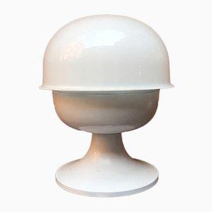 Italienische Tischlampe aus weiß emailliertem Metall & Plexiglas, 1970er