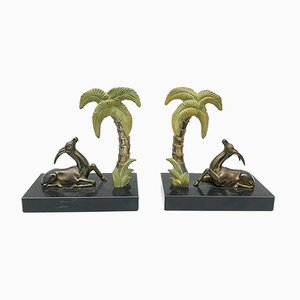 Art Deco French Antelope Bookends, 1930s, Set of 2