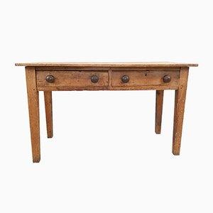 Mesa de trabajo antigua de madera de pino