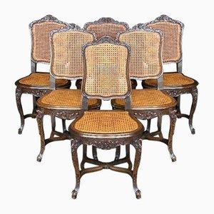Chaises de Salle à Manger Louis XV Antiques, France, Set de 6