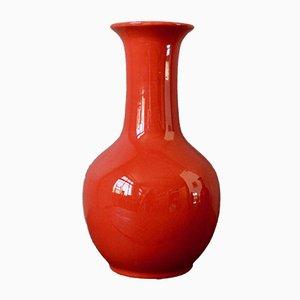 Rote Vasen von Paul Mignon für Longwy, 1970er, 2er Set