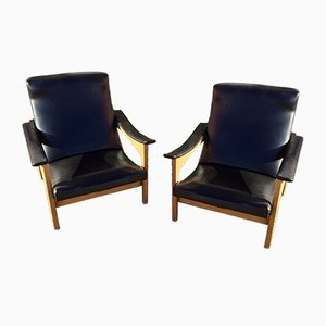 Lounge Chairs from Steiner, 1950s, Set of 2