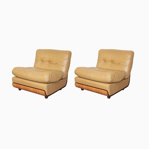 Italian Modular Lounge Chairs by Mario Bellini, 1960s, Set of 2