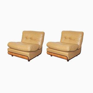 Modulare italienische Sessel von Mario Bellini, 1960er, 2er Set