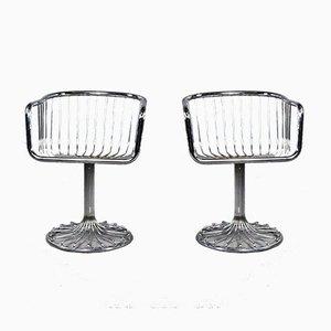 Vintage Bauhaus Tubular Steel Lounge Chairs, 1970s, Set of 2