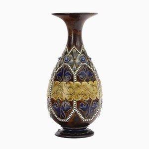 Antike Vase aus Steingut von Elizabeth Fisher für Doulton Lambeth, 1880er