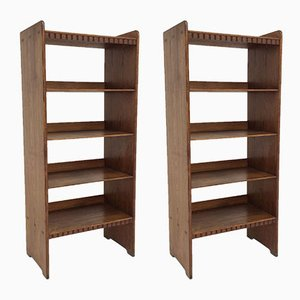 Danish Shelves by Martin Nyrop for Rud Rasmussen, 1930s, Set of 2