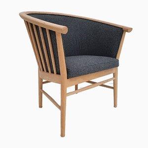 Beech & Wool Armchair, 1980s