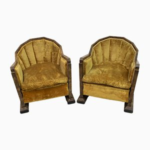 Art Deco Lounge Chairs by Gaetano Borsani for Atelier Borsani Varedo, 1920s, Set of 2