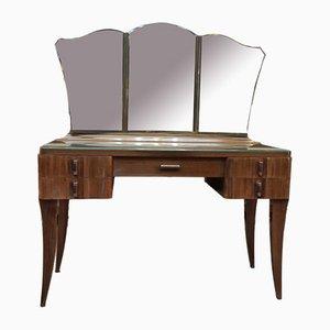 Schreibtisch aus massivem Mahagoni von Gaston Poisson, 1940er