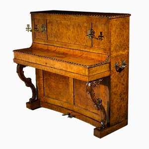 Antique French Flohr Elm Wood Piano