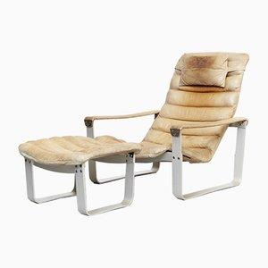 Vintage Sessel & Fußhocker Set von Ilmari Lappalainen für Asko, 1960er