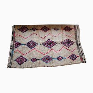 Vintage Fuchsia and Blue Woolen Carpet, 1980s