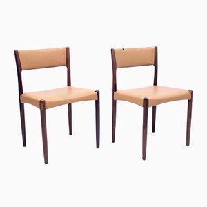 Dänische Beistellstühle aus Palisander, 1960er, 2er Set