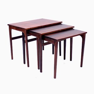 Scandinavian Rosewood Nesting Tables, 1960s
