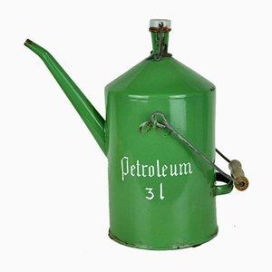 Contenitore verde per Petroleum, anni '50