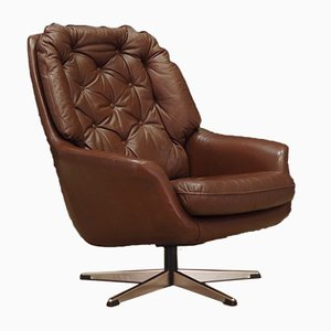 Leather Armchair, 1970s