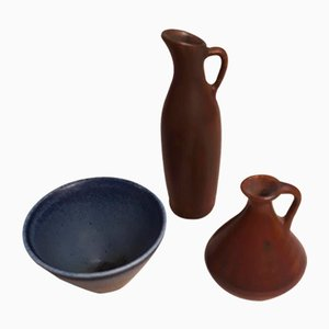 Jugs and Bowl Set by Carl-Harry Stålhane for Rörstrand, 1950s