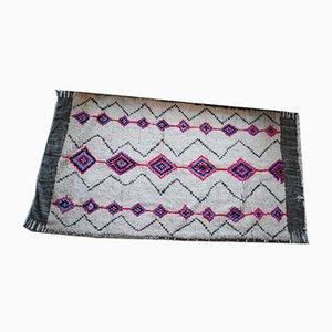 Vintage Berber Wollteppich in Fuchsia & Grau, 1970er