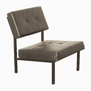 Schwarzer Sessel von Gijs van der Sluis für Van der Sluis Stalen Meubelen, 1960er