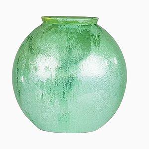 Jarrón italiano de cerámica verde azulado de Guido Andloviz para SCI Laveno, años 40