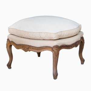 Antique Louis XV Style French Walnut Ottoman