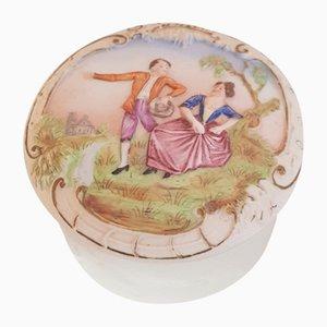 Art Nouveau Hand Painted Lidded Box from Schäfer & Vater