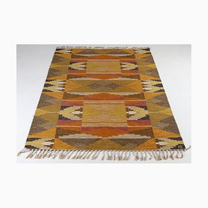 Mid-Century Swedish Carpet by Ingegerd Silow