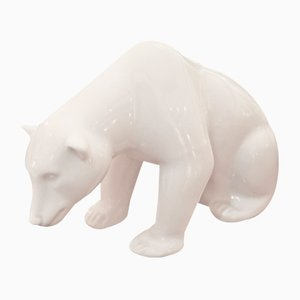 Porcelain Polar Bear from Augarten Porzellan Wien, 1950s