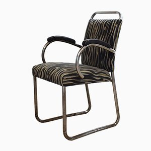Art Deco German Tubular Steel Cantilever Armchair, 1920s