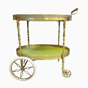 Mid-Century Italian Brass and Resin Trolley, 1960s
