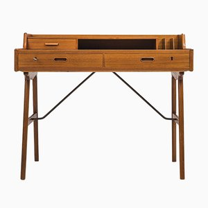 Danish Teak Model 56 Desk by Arne Wahl Iversen, 1960s