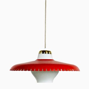 Danish Ceiling Lamp by Bent Karlby for Lyfa, 1960s