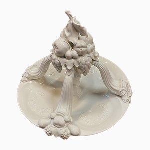 Antike Obstschale aus Porzellan von Schwarzburger Werkstätten für Porzellankunst
